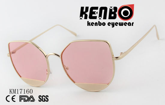 Fashion Sunglasses with Little Metal Cover Km17160