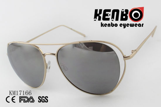 Sunglasses with Thin Metal Circle Frame Km17166