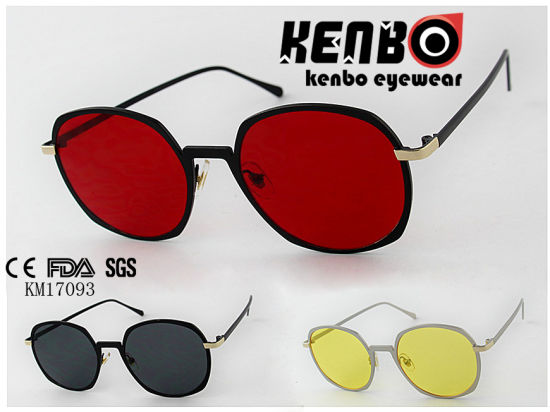 Very Red Lens with Fully Metal Frame Latest Design Sunglasses Km17093