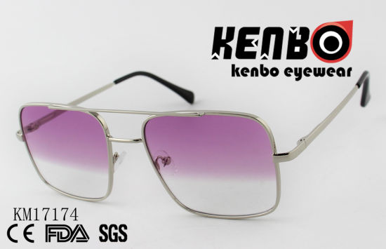 Metal Frame Sunglasses with Square Lens Km17174
