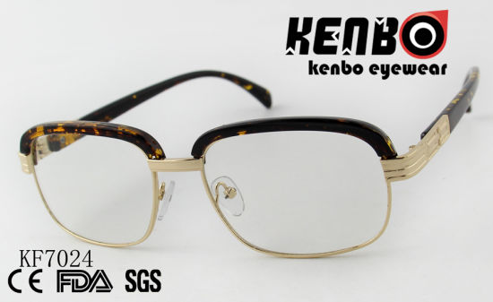 High Quality PC Optical Glasses with Mixed Frame Ce FDA Kf7024