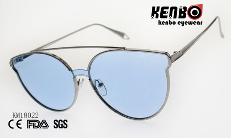 Special Design Frame Metal Sunglasses with One Piece Lens Km18022