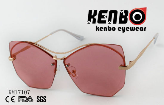 Novelty Design Metal Sunglasses with Special Eyebar Km17107 Multible Lens Colour Choices