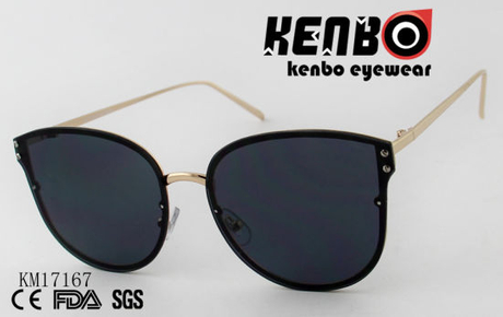 Fashion Sunglasses with Metal Frame Behind Lens Km17167