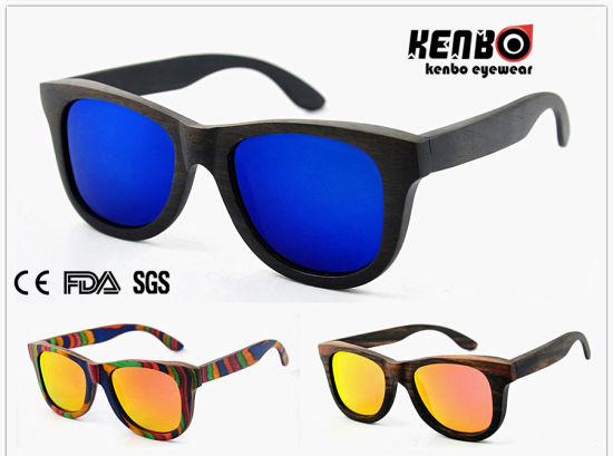 Hot Sale Fashion Unisex Wooden Sunglasses (Optical frame) CE. FDA. Kw011
